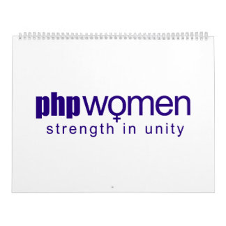 PHP Women 2010 (large) Wall Calendars