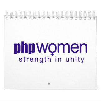 PHP Women 2010 (small) Wall Calendar