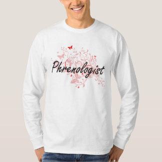 Phrenologist Artistic Job Design with Butterflies T-Shirt