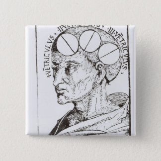 Phrenology 15 Cm Square Badge