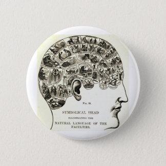 Phrenology 6 Cm Round Badge
