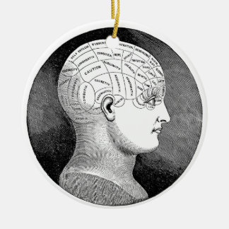 Phrenology Christmas Ornament