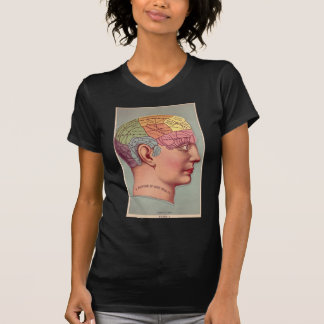 Phrenology Map for Good Health Tee Shirts