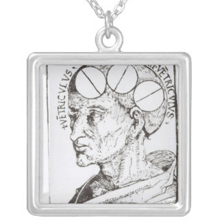 Phrenology Silver Plated Necklace