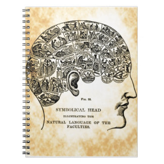 Phrenology Steampunk Vintage Notebook