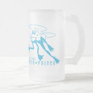 Phrog Prince 16 Oz Frosted Glass Beer Mug