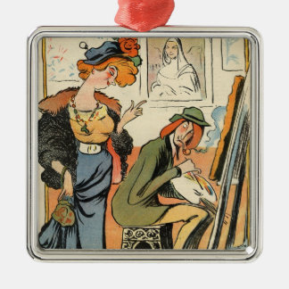 Phryne: caricature of an artist's model christmas ornament
