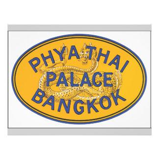 Phya Thai Palace Bangkok, Vintage Personalized Flyer