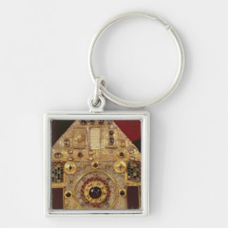 Phylactery or pentagonal reliquary Silver-Colored square key ring