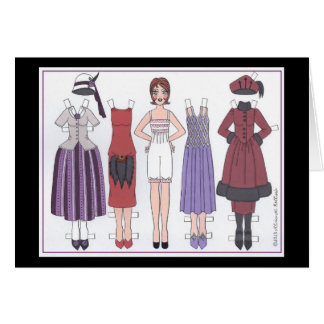 Phyllis, Art Deco Lady of the Twenties Paper Doll Greeting Card
