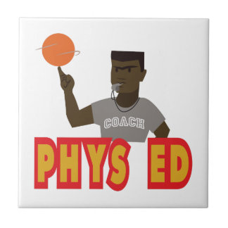 Phys Ed Small Square Tile