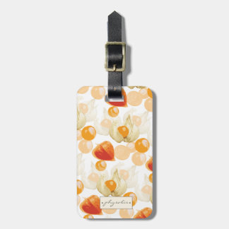 Physalis | Winter Cherries Luggage Tag