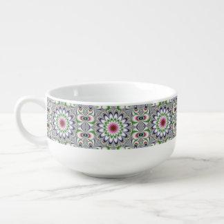 Physcedelic Dimentional Flower Soup Mug