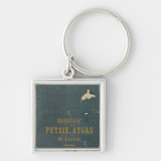 Physical Atlas version 1 Silver-Colored Square Key Ring