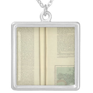 Physical Chart of the Atlantic Ocean continued Silver Plated Necklace