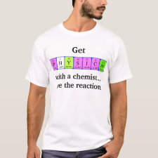 Periodic table Physical with a chemist shirt
