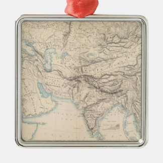 Physical Europe & Asia Silver-Colored Square Decoration