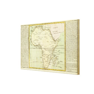 Physical map of Africa Canvas Print