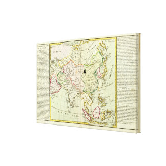 Physical map of Asia Canvas Print
