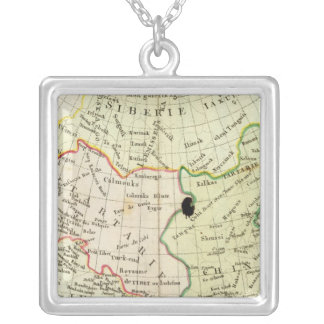 Physical map of Asia Silver Plated Necklace