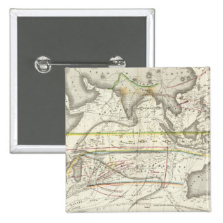 Physical Map of Indian seas 15 Cm Square Badge