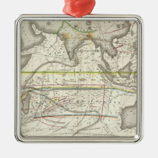 Physical Map of Indian seas Christmas Ornaments