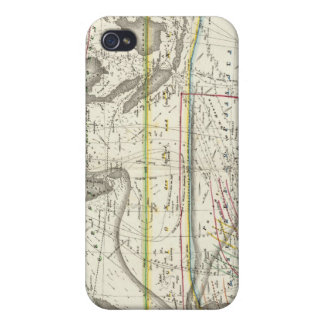 Physical Map of Indian seas iPhone 4 Cases