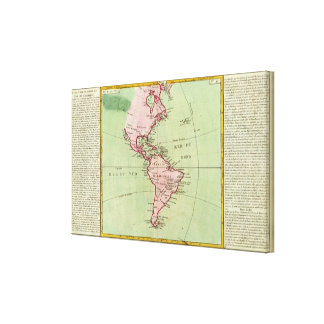 Physical map of the Americas Canvas Print
