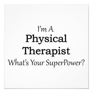 Physical Therapist 13 Cm X 13 Cm Square Invitation Card