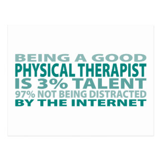 Physical Therapist 3% Talent Postcard