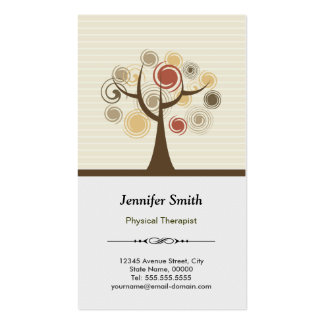 Physical Therapist Appointment - Elegant Natural Business Cards