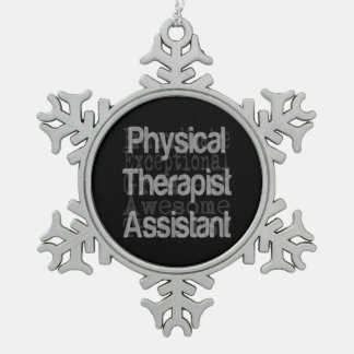 Physical Therapist Assistant Extraordinaire Snowflake Pewter Christmas Ornament