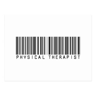 Physical Therapist Bar Code Postcard