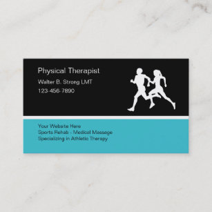 Sports massage therapy business cards zazzle uk physical therapist business card template cheaphphosting