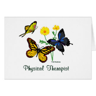 Physical Therapist Butterflies Greeting Cards