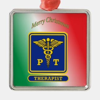 Physical Therapist Caduceus Shield Christmas Ornament