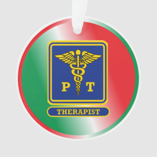 Physical Therapist Caduceus Shield Ornament