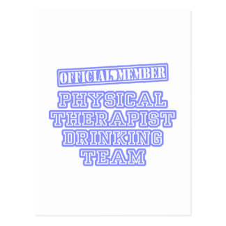 Physical Therapist Drinking Team Postcard