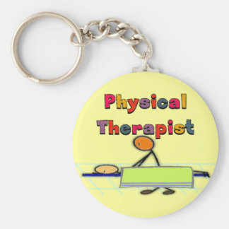 Physical Therapist Gifts Basic Round Button Key Ring