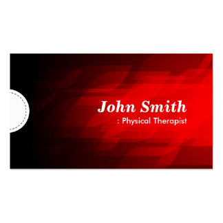 Physical Therapist - Modern Dark Red Business Cards