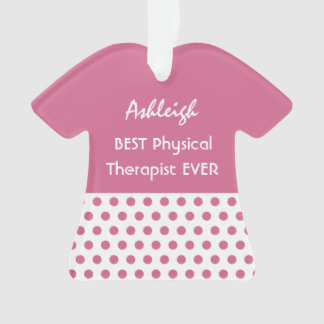 PHYSICAL THERAPIST Profession PINK Polka Dots A12 Ornament