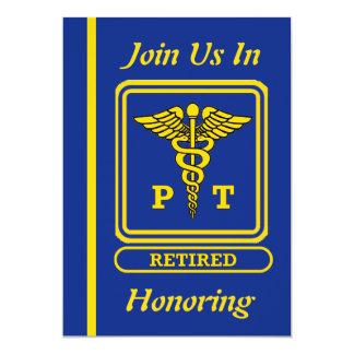 "Physical Therapist Retirement Invitation 5"" X 7"" Invitation Card"