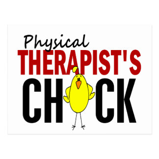 PHYSICAL THERAPIST'S CHICK POSTCARD