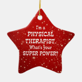 Physical Therapist Super Power Christmas Ornament