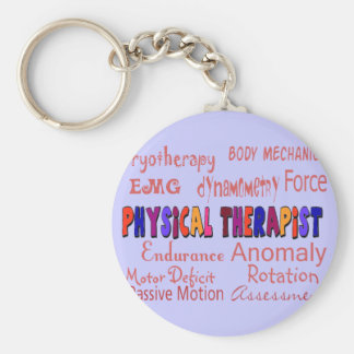 Physical Therapist Terminology Gifts Basic Round Button Key Ring