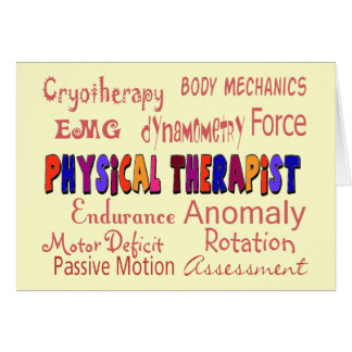 Physical Therapist Terminology Gifts Greeting Card