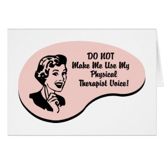 Physical Therapist Voice Card