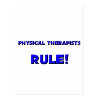 Physical Therapists Rule! Postcard