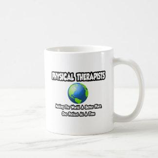 Physical Therapists...World a Better Place Basic White Mug