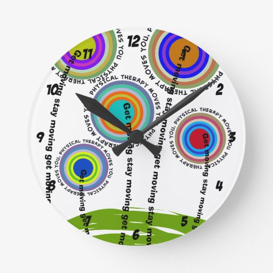 Physical Therapy Artsy Gifts Round Clock